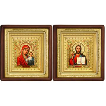 Венчальная пара Икона Спасителя и Казанской Божьей Матери 19-ВП-5