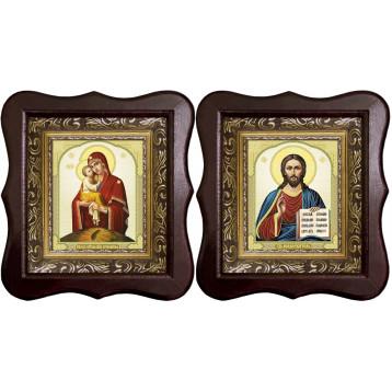 Венчальная пара Икона Спасителя и Почаевская Божия Матерь 1012-ФБВП-10