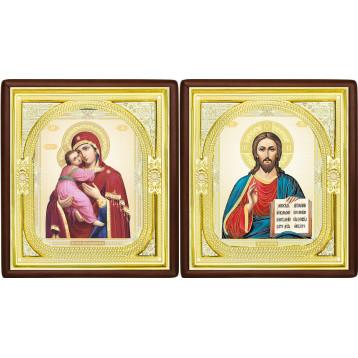 Вінчальна пара Ікона Спасителя і Володимирська Божа Матір 1-ВП-12