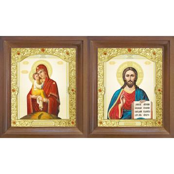 Венчальная пара Икона Спасителя и Почаевская Божия Матерь 26-ВП-10