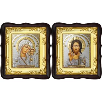 Венчальная пара Икона Спасителя и Казанской Божьей Матери 5-ФТВП-20