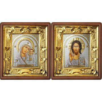 Венчальная пара Икона Спасителя и Казанской Божьей Матери 31-ВП-20