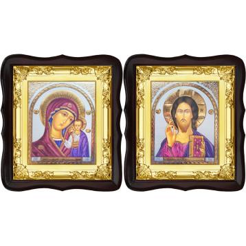 Венчальная пара Икона Спасителя и Казанской Божьей Матери 5-ФТВП-21