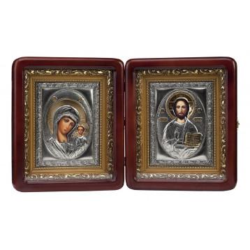 Венчальная пара Икона Спасителя и Казанской Божьей Матери 2427-РВП-2
