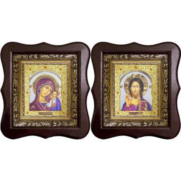 Венчальная пара Икона Спасителя и Казанской Божьей Матери 22-1012-ФБВП-17
