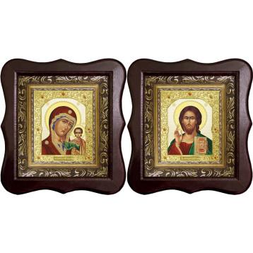 Венчальная пара Икона Спасителя и Казанской Божьей Матери 22-1012-ФБВП-7
