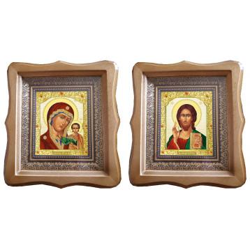 Венчальная пара Икона Спасителя и Казанской Божьей Матери 22-ФБВП-7