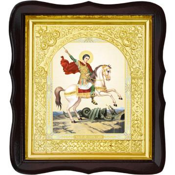 Икона Святой Георгий Победоносец 17-ФТ-32