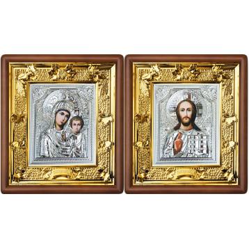 Венчальная пара Икона Спасителя и Казанской Божьей Матери 37-ВП-9