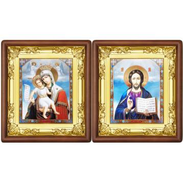 Венчальная пара Икона Спасителя и Достойно Есть Божия Матерь 5-ВП-13