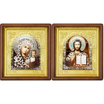 Венчальная пара Икона Спасителя и Казанской Божьей Матери 17-ВП-17