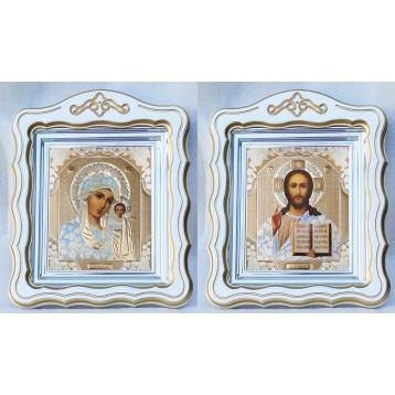 Венчальная пара Икона Спасителя и Казанской Божьей Матери 44-ФВП-1