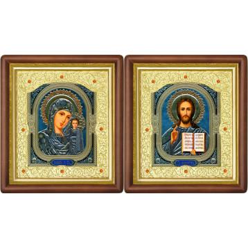 Венчальная пара Икона Спасителя и Казанской Божьей Матери 20-ВП-4