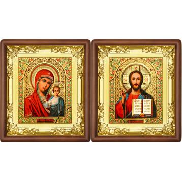 Венчальная пара Икона Спасителя и Казанской Божьей Матери 5-ВП-5