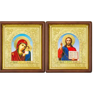 Венчальная пара Икона Спасителя и Казанской Божьей Матери 17-ВП-6