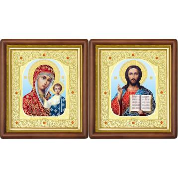 Венчальная пара Икона Спасителя и Казанской Божьей Матери 20-ВП-8