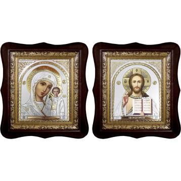 Венчальная пара Икона Спасителя и Казанской Божьей Матери 1518-ФБВП-22