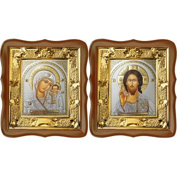 Венчальная пара Икона Спасителя и Казанской Божьей Матери 31-ФВП-20