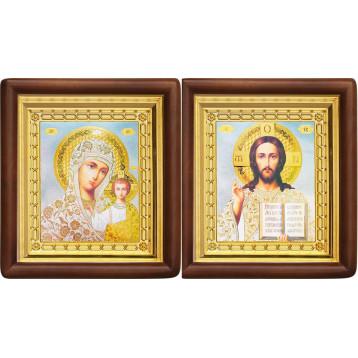 Венчальная пара Икона Спасителя и Казанской Божьей Матери 4-ВП-19
