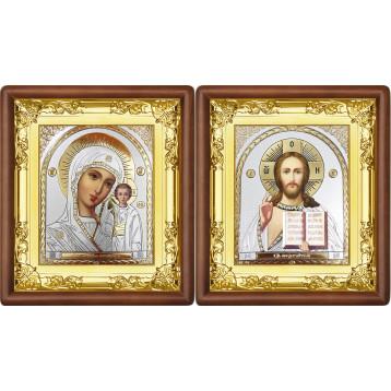 Венчальная пара Икона Спасителя и Казанской Божьей Матери 5-ВП-22