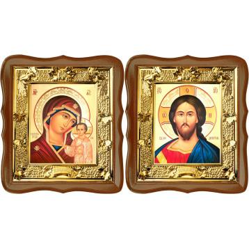 Венчальная пара Икона Спасителя и Казанской Божьей Матери 31-ФВП-7