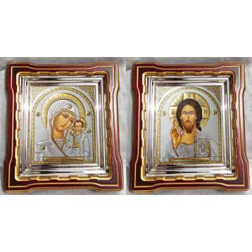 Венчальная пара Икона Спасителя и Казанской Божьей Матери 44-ВП-20