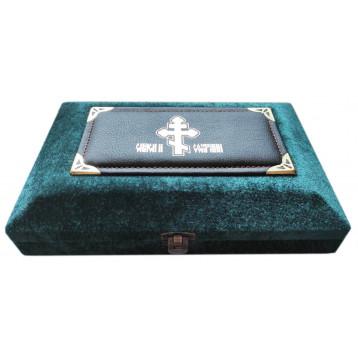 Бархатная шкатулка, зелёная, лик 10х12 см, арт. Б-22-Ш-2