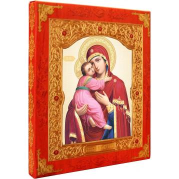 Владимирская икона Божией Матери, лик 15х18, арт. 21-Д-30