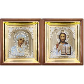 Венчальная пара Икона Спасителя и Казанской Божьей Матери 27-ВП-1