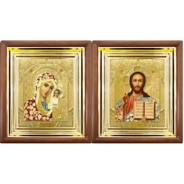 Венчальная пара Икона Спасителя и Казанской Божьей Матери 27-ВП-3